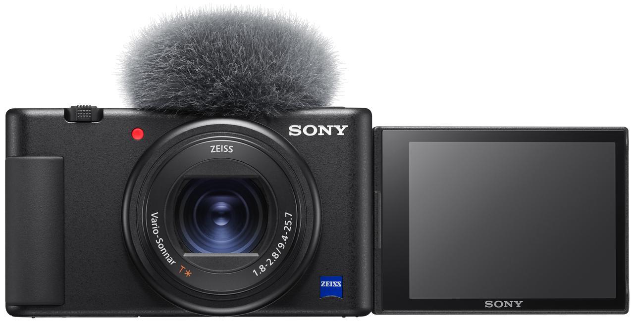 画像: 自撮りも可能なバリアングルモニターを採用。付属のウインドスクリーンを装着