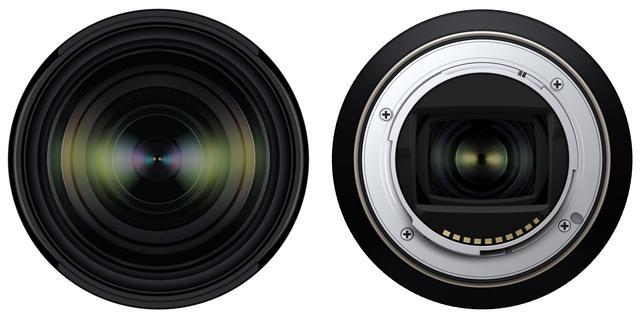 画像: レンズ正面とマウント面