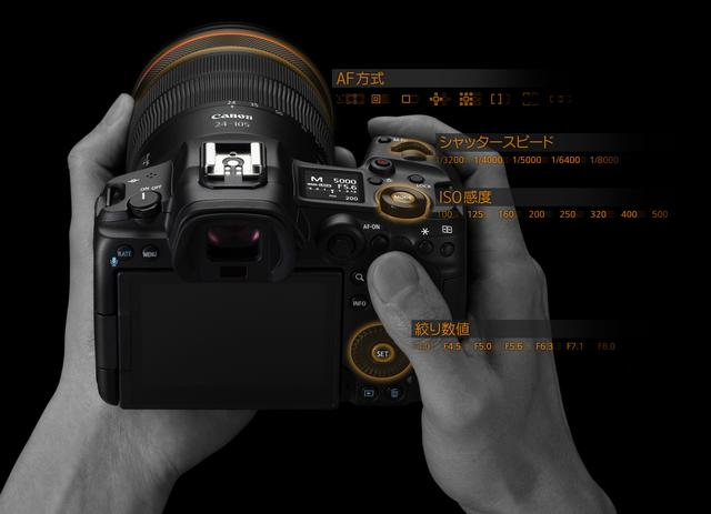 画像: メイン電子ダイヤル、2つサブ電子ダイヤルに加え、コントロールリング搭載のレンズ装着で4ダイヤルの操作が可能に