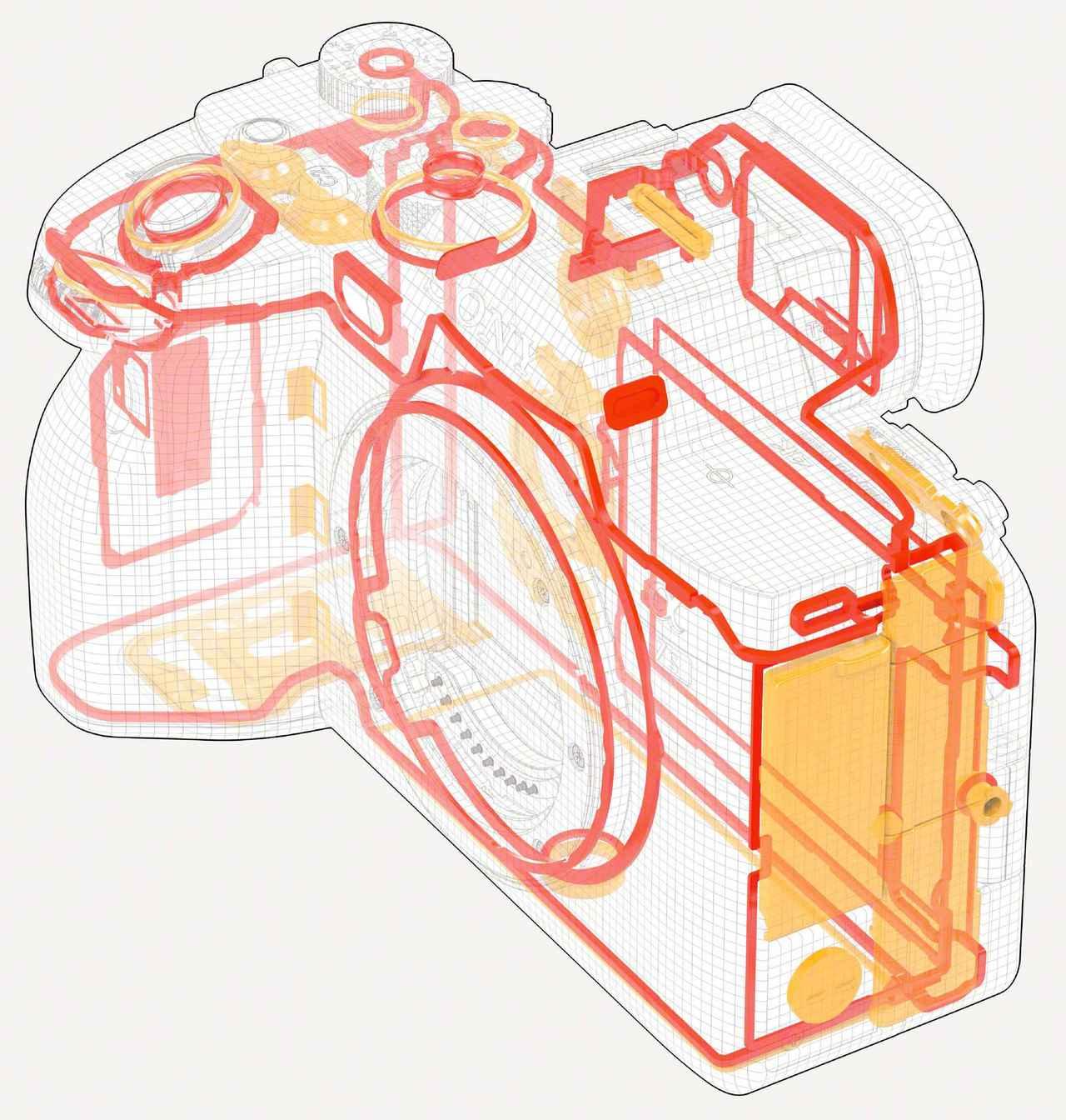 画像: ボディ各所にシーリングが施された防塵・防滴構造