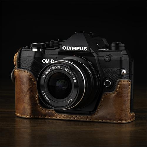 画像: KAZA OLYMPUS OM-D E-M5 Mark3 専用ハーフレザーケース