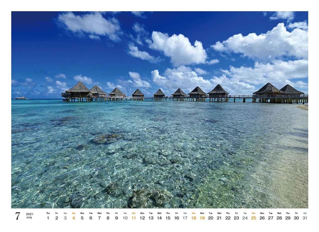 Images : 8番目の画像 - カメラマン2021カレンダー、斎藤勝則「TAHITIAN Sea Breeze」 - Webカメラマン