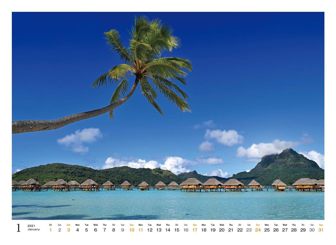 Images : 2番目の画像 - カメラマン2021カレンダー、斎藤勝則「TAHITIAN Sea Breeze」 - Webカメラマン