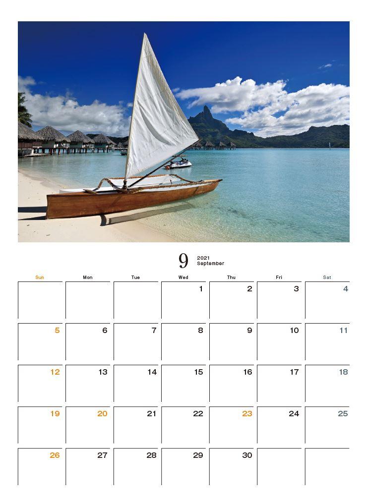 Images : 10番目の画像 - カメラマン2021カレンダー、斎藤勝則「TAHITIAN Sea Breeze」 - Webカメラマン