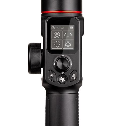 画像: LCD タッチスクリーンから、ジンバルの撮影モードや設定パラメータの変更、カメラの撮影制御が可能。