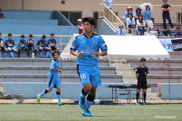 画像: 2年生ながら川崎F・U-18の攻撃を牽引する宮代。U-17ワールドカップ出場も狙う