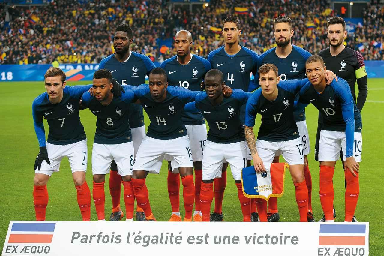 画像: フランス◎6大会連続15回目:1930、34、38、54、58、66、78、82、86、98、2002、06、10、14年 / FIFAランク◎7位 / 監督◎ディディエ・デシャン