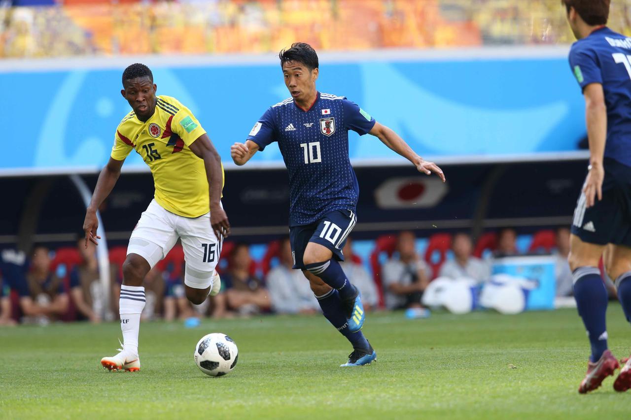 Images : 1番目の画像 - 6月19日、日本対コロンビア/下馬評を覆して日本が格上の相手を破った - ベースボール・マガジン社WEB