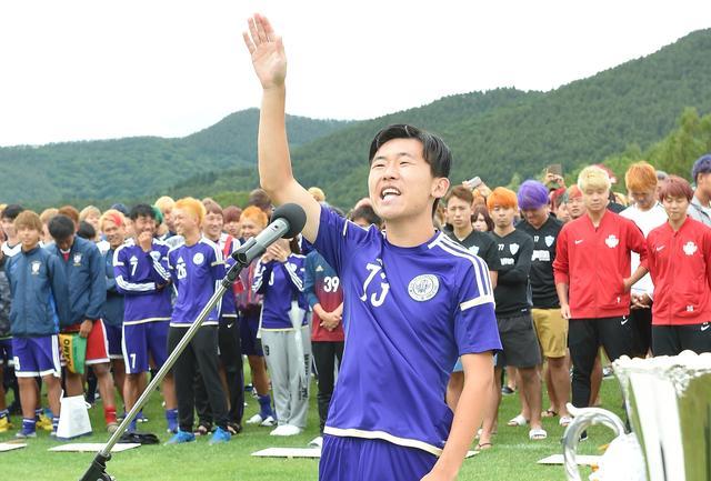 画像: 明治体同連B・加藤選手の力強い選手宣誓に会場が沸いた