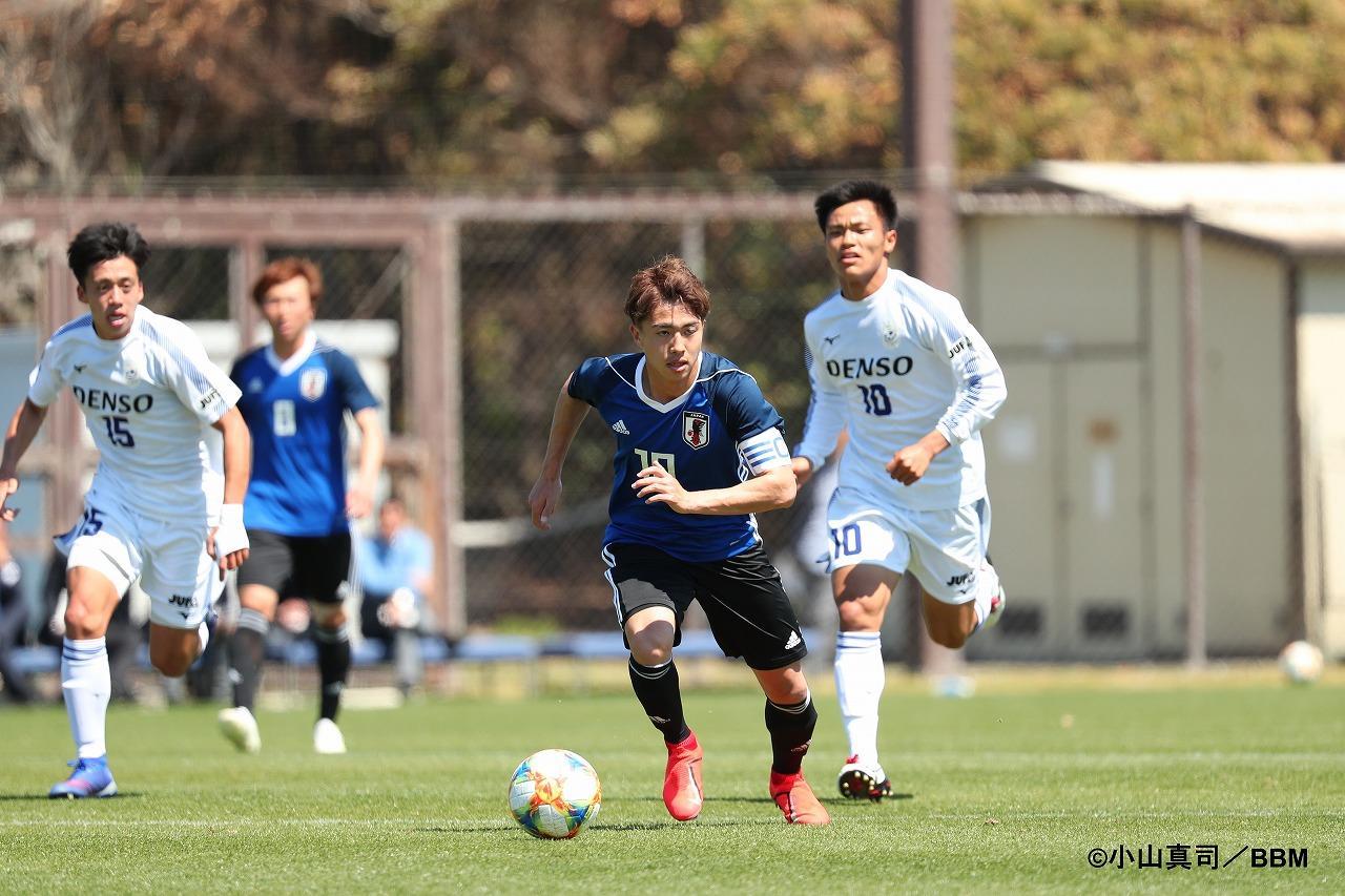 Images : 1番目の画像 - U-20日本代表は1-1で全日本大学選抜と引き分け。鹿島の安部や名古屋の菅原も奮闘した(写真◎小山真司) - ベースボール・マガジン社WEB