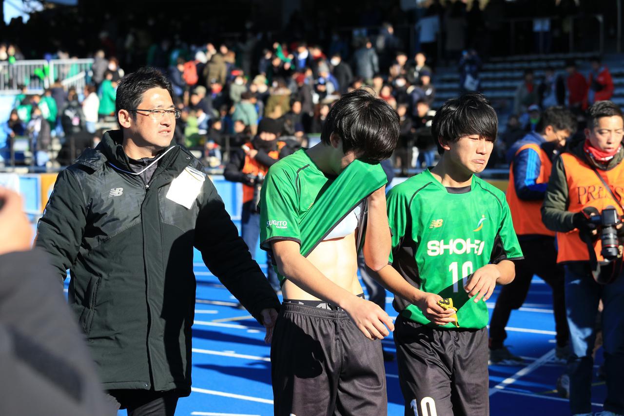 Images : 2番目の画像 - 準々決勝の青森山田戦では1ゴールを挙げるも敗戦。試合後、悔し涙を流した須藤(写真◎福地和男) - サッカーマガジンWEB