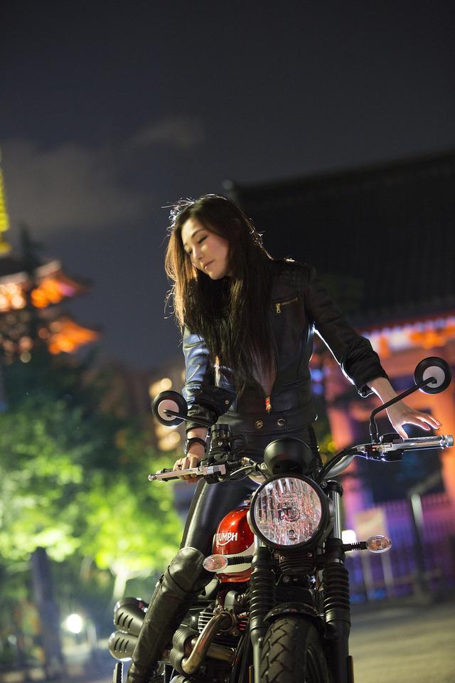 画像: あたしと、バイクと、浅草。