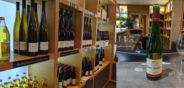 画像: さまざまな品種のアルザスワイン(左)とゲヴュルツトラミネール(右)/2019年11月荒木撮影
