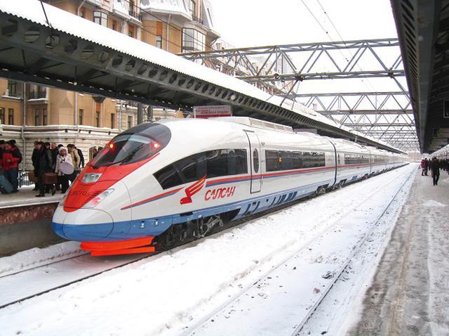画像: モスクワ~サンクト・ペテルブルク間をつなぐサプサン号(イメージ)