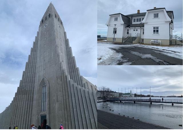 画像: 左からハトルグリムス教会・ホフジハウス・チョルトニン湖 / 馬渕撮影