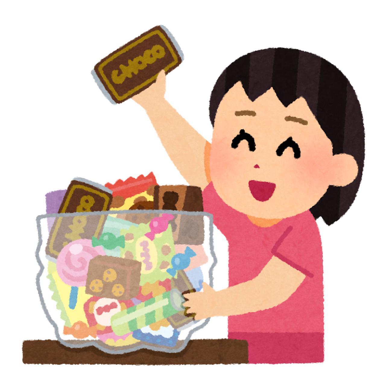 画像: 飴やチョコレート等の甘いもの