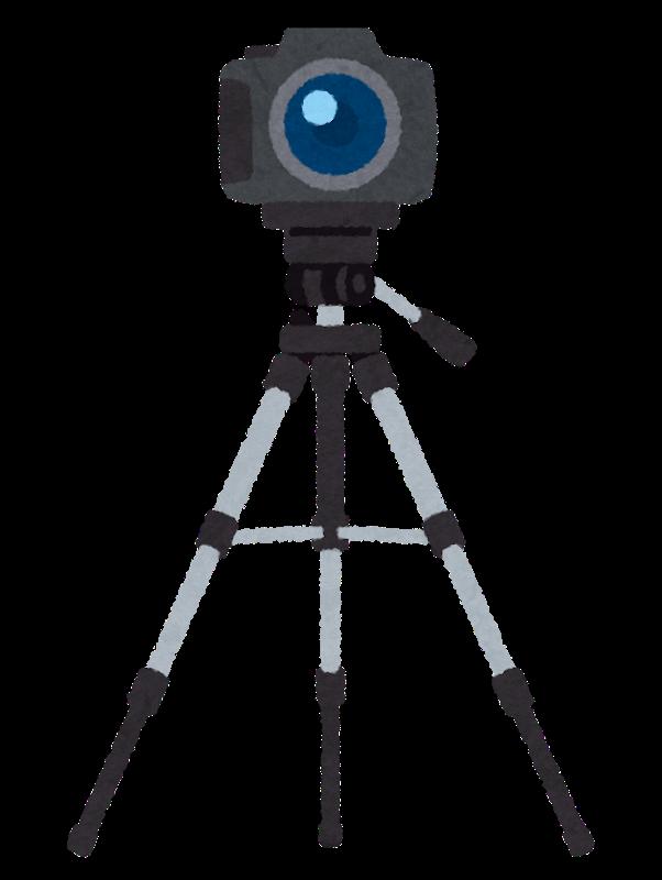 画像: カメラと三脚セット