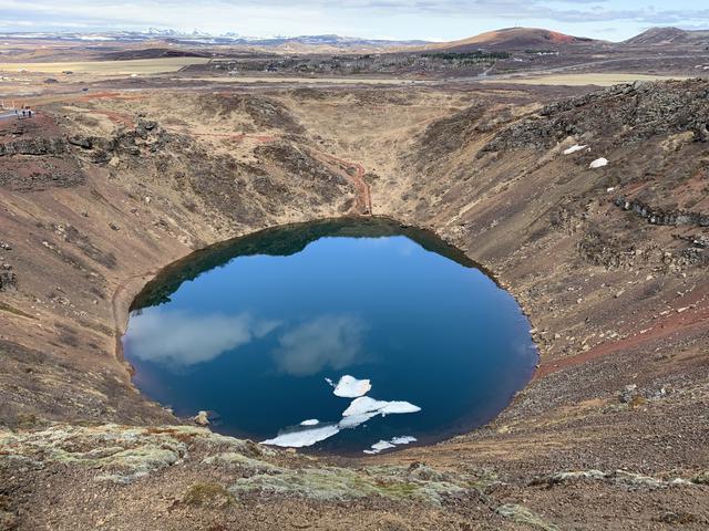 画像: ケリズ火口湖(イメージ/©Icelandair提供)