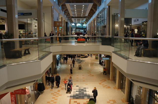 画像: レイキャヴィークのショッピングモール・クリングランの様子(現地スタッフ撮影/2020年8月)