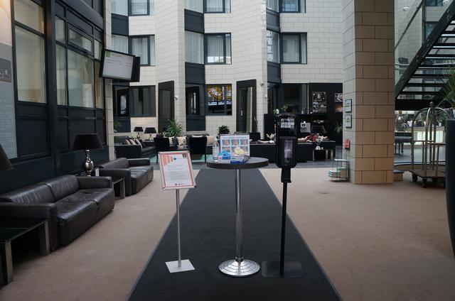 画像: グランドホテル・レイキャヴィークのエントランス(現地スタッフ撮影/2020年8月)