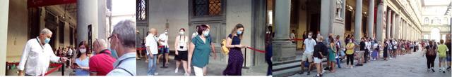 画像: ウフィッツィ美術館前の様子/すべて現地手配会社スタッフ撮影