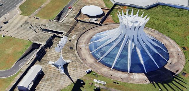 画像: ブラジリア大聖堂 Google Earth