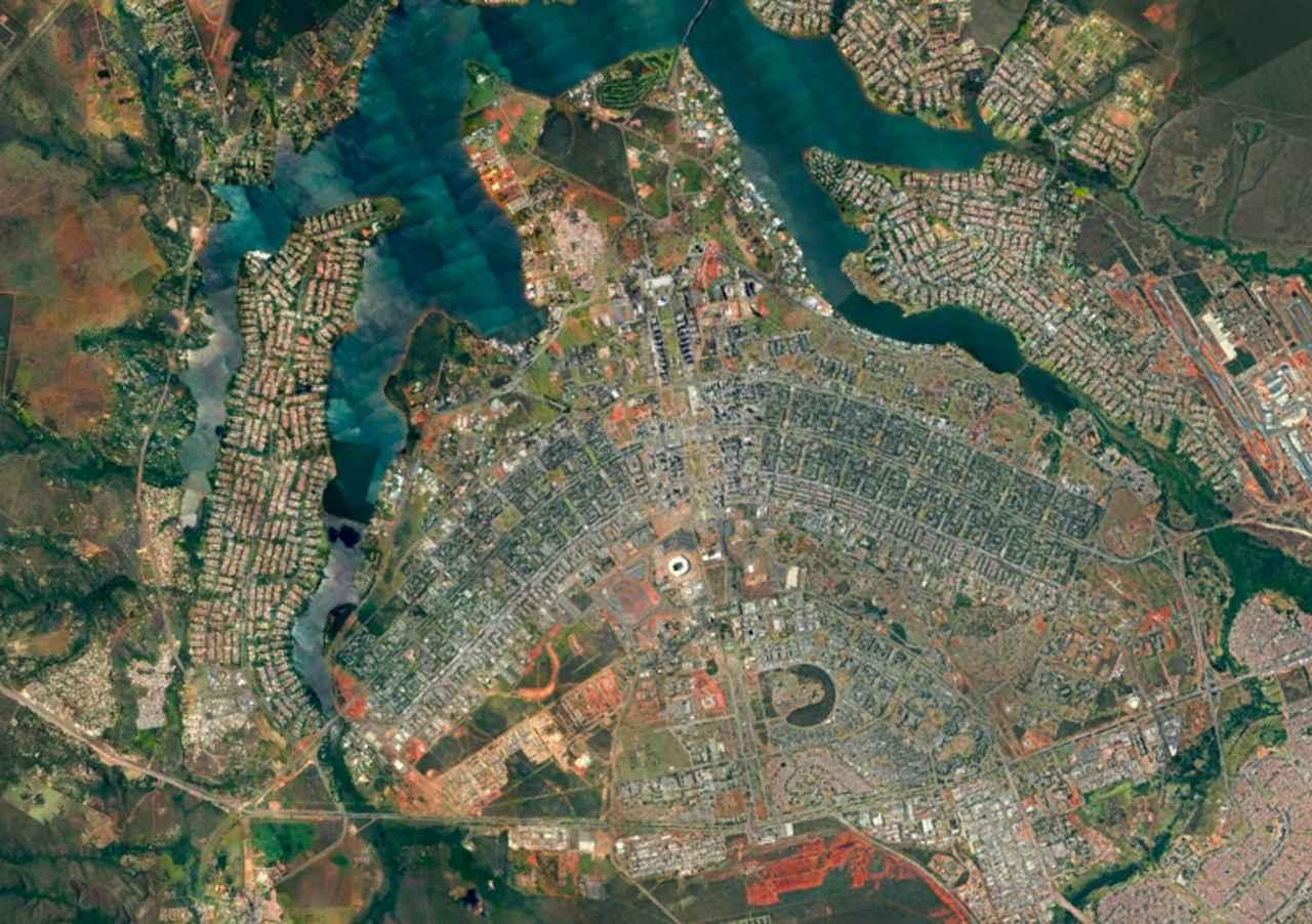 画像: ブラジリア(ブラジル連邦共和国) 登録基準(ⅰ)(ⅳ) Google Earth