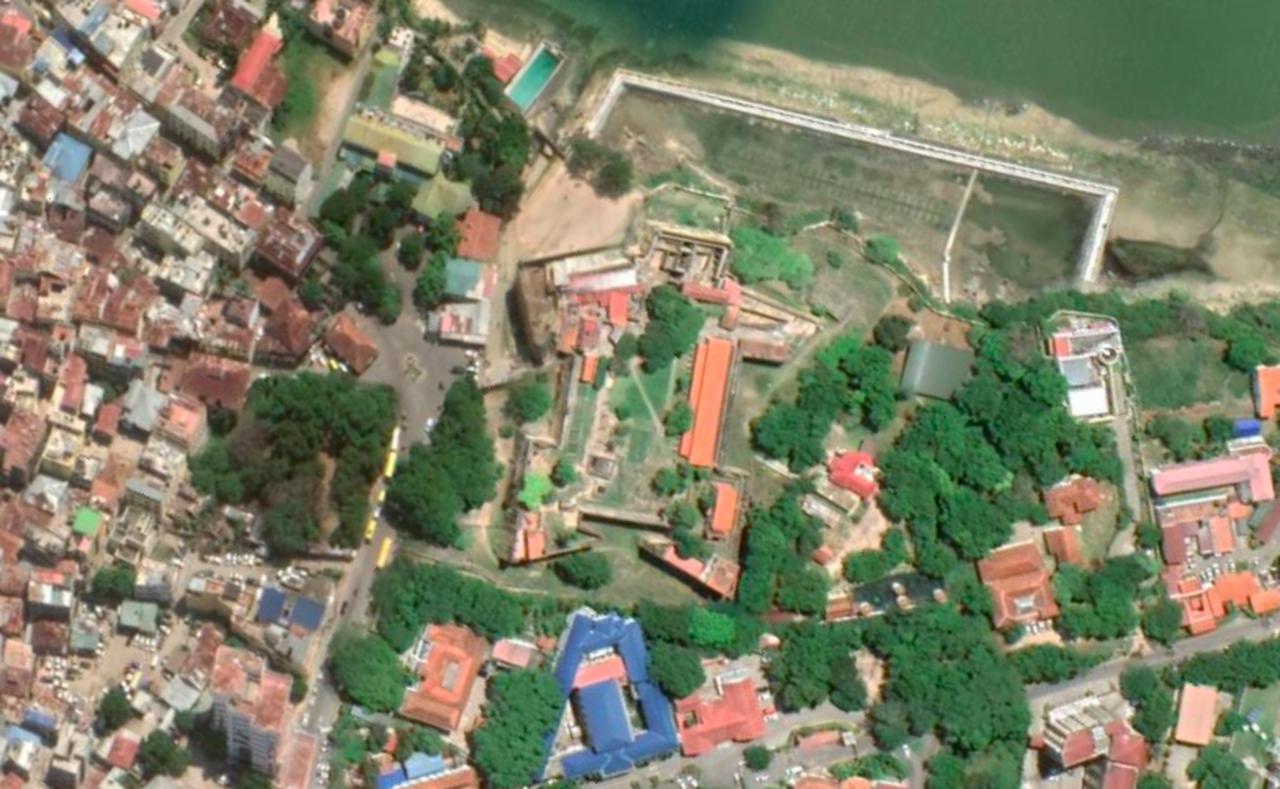 画像: ジーザス要塞(ケニア共和国) 登録基準(ⅱ)(ⅴ) Google Eartth