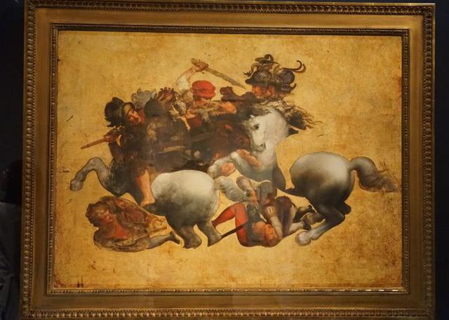 画像: 作者不詳(レオナルド・ダ・ヴィンチに基づく) 「タヴォラ・ドーリア」(《アンギアーリの戦い》の軍旗争奪場面)/ウフィッツィ美術館