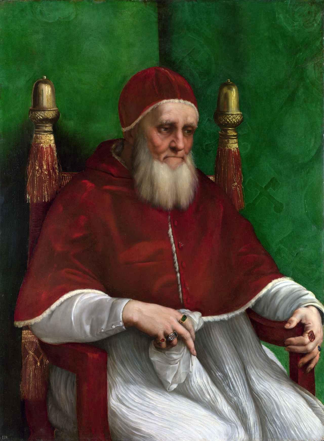画像: ラファエロが描いたユリウス2世