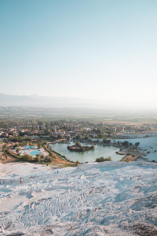 画像: 石灰棚から見渡す市街地(イメージ)