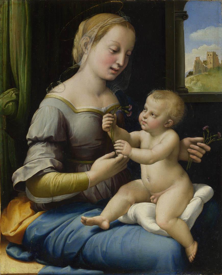 画像: カーネーションの聖母/ラファエロ
