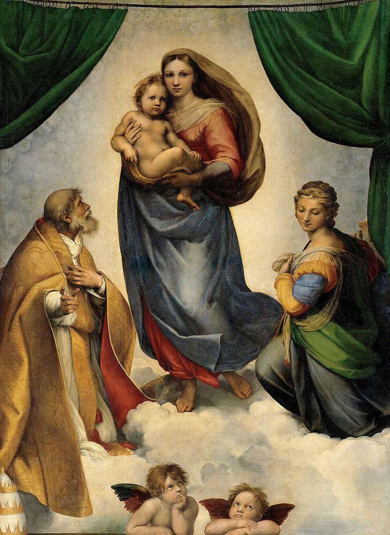 画像: システィーナの聖母/ラファエロ