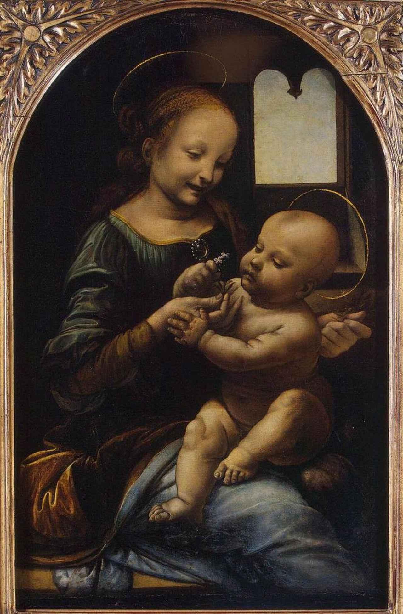画像: ブノワの聖母/レオナルド・ダヴィンチ