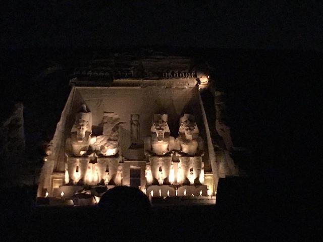 画像: アブシンベル神殿の音と光のショー(著者撮影/2019年5月)
