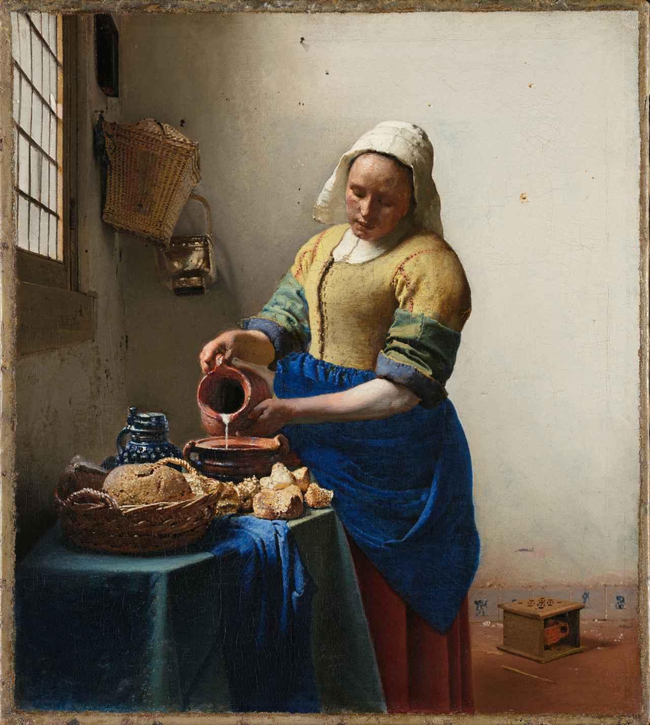 画像: 『牛乳を注ぐ女』ヨハネス・フェルメール アムステルダム国立美術館 Ⓒオランダ政府観光局