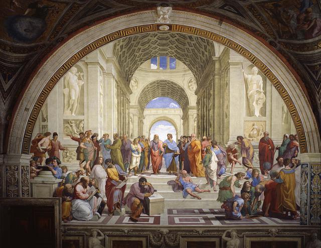 画像: ①『署名の間』アテネの学堂