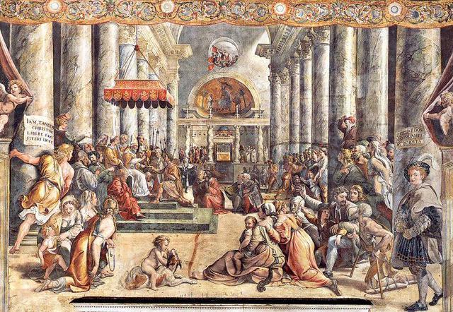 画像: ④『コンスタンティヌスの間』コンスタンティヌスの寄進状