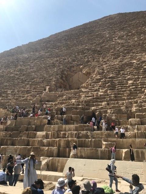画像: クフ王のピラミッド(著者撮影/2019年5月)