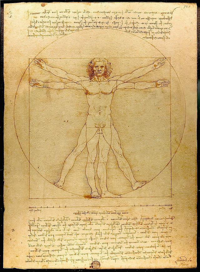 画像: ダヴィンチ/ウィトルウィウス的人体図