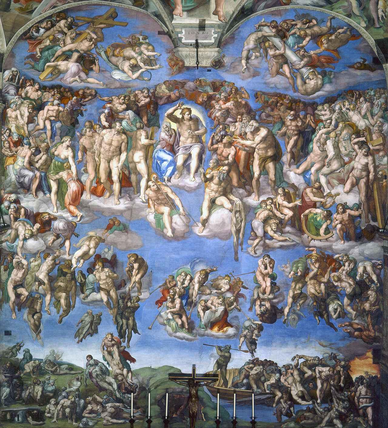 画像: ミケランジェロ/祭壇画『最後の審判』