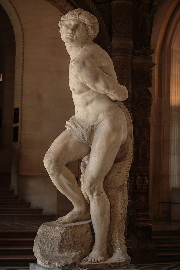 画像: ミケランジェロ/抵抗する奴隷