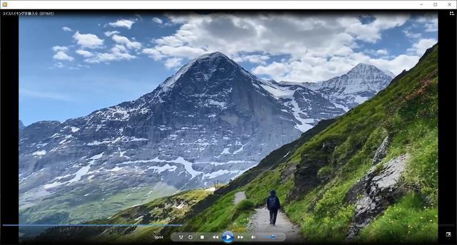 画像: チュッケン山を巻きながら歩くとアイガーが目の前に