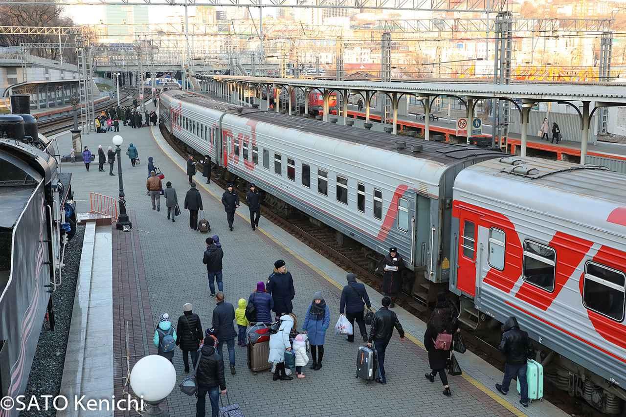 画像: シベリア鉄道ホーム(イメージ/©SATO Kenichi)