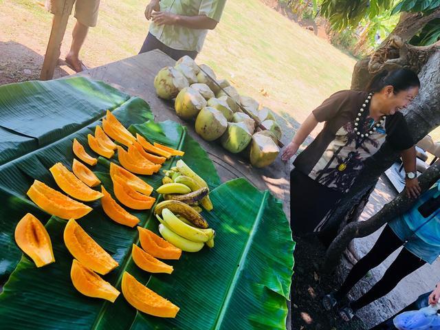 画像: 新鮮なフルーツの試食も!