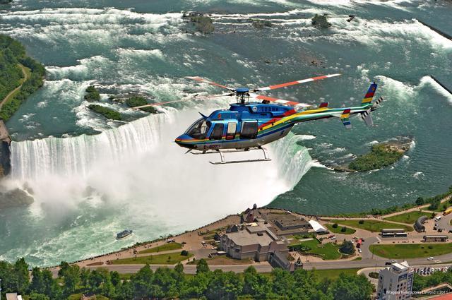 画像: ナイアガラの遊覧飛行©ナイアガラヘリコプター
