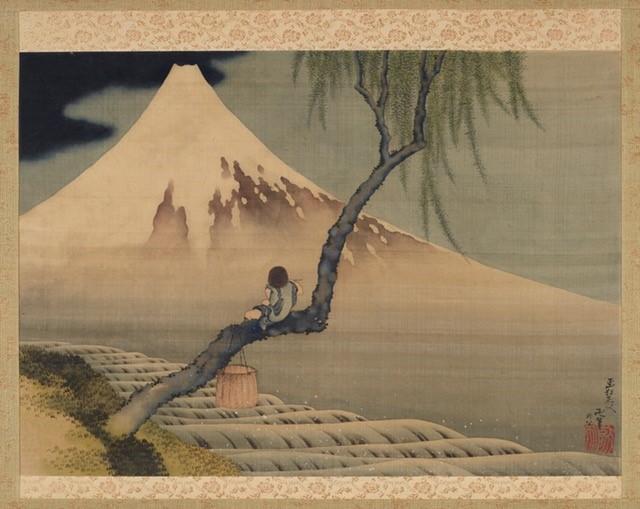 画像: 『富士と笛吹童図』葛飾北斎・フリーア美術館蔵 F1898.110
