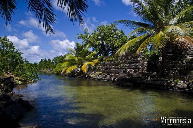 画像: ナンマドール遺跡(ポンペイ島)