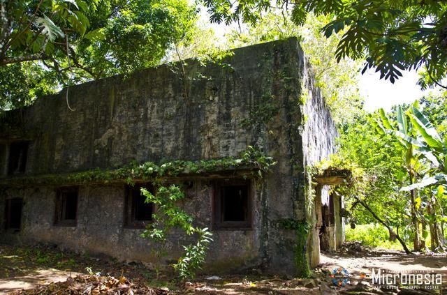 画像: 日本統治時代の建造物 (出典:ミクロネシア政府観光局)