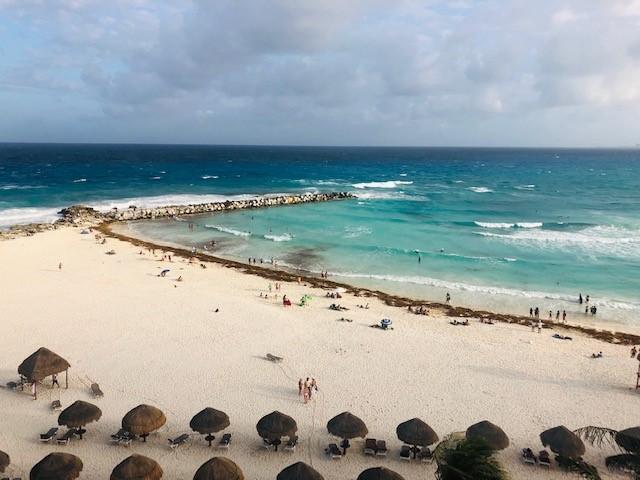 画像: お部屋から見た「カンクンのビーチ」(イメージ)
